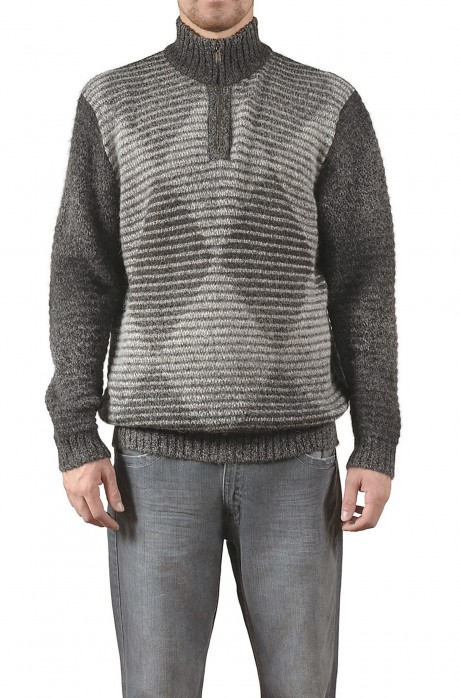 KUDAI Herren Troyer Pullover Reines Baby Alpaka von KUNA