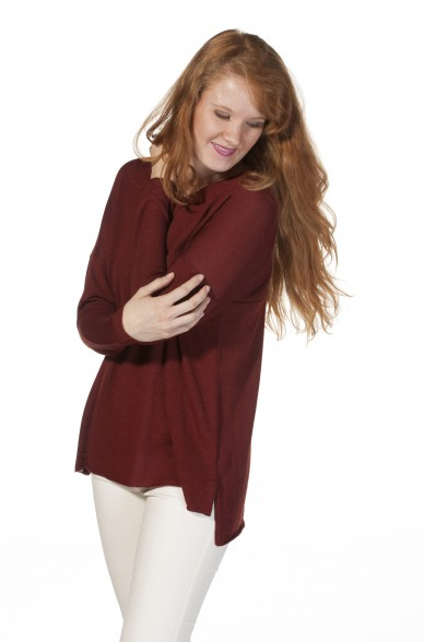Damen Feinstrick Pullover BEATRICE Royal Alpaka