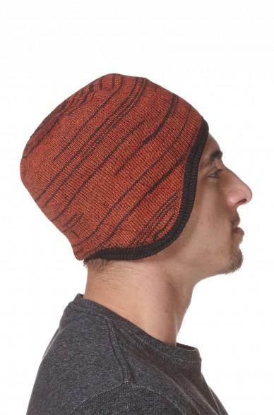 Herren Mütze MOUNTAIN Haube gefüttert mit Baumwoll Vlies und Ohrenklappen