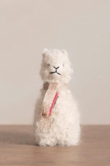 Alpaka QÓNI PEQUEÑO Plüschtier Dekoration 7cm Wolle
