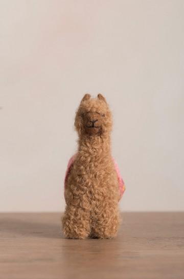 Woll-Alpaka Tier QÓNI Dekoration Plüschtier 11cm