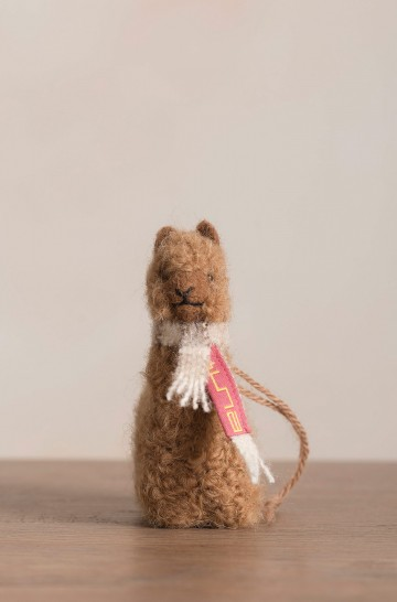 Plüsch Tier QÓNI Alpaka Wolle Dekoration 19,5 cm
