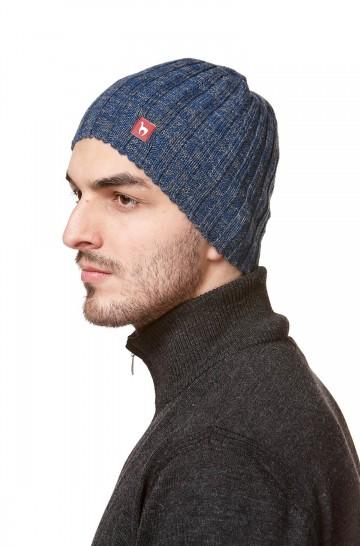 Herren Haube SKYCAP gestrickte Mütze aus feinstem Alpaka