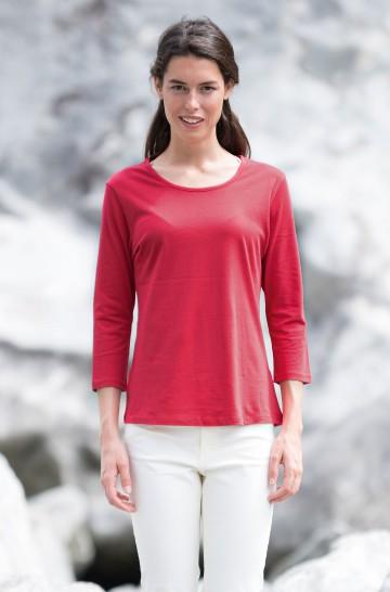 T-Shirt DREI-VIERTEL-ARM 3/4 Bio Pima-Baumwolle Damen