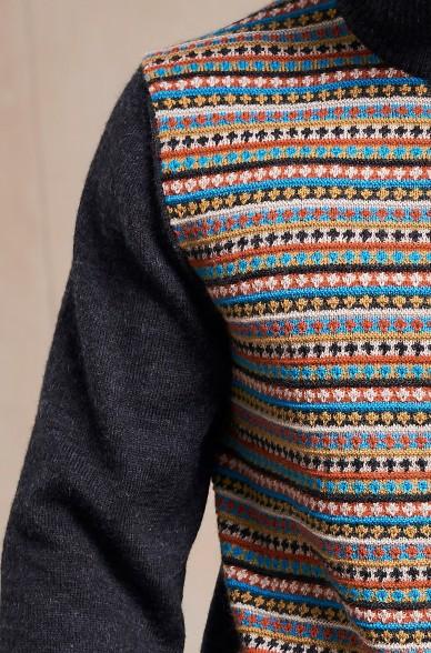 Troyer SEBASTIAN Herren Pullover Baby Alpaka Zip