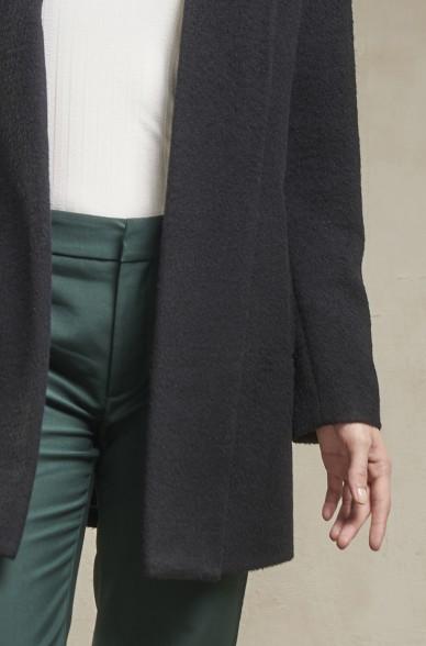 Kurz-Mantel SHORT SWING Alpaka Schal-Kragen Coat KUNA Essentials