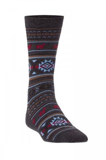 Alpaka Socken JACQUARD aus 70% Baby Alpaka und 25% Pima Baumwolle