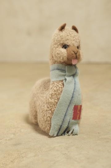 Plüsch Tier QÓNI GRANDE Alpaka Wolle Dekoration 19,5 cm