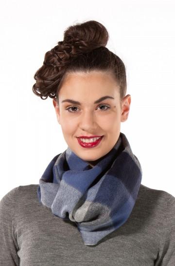 Schal KARO Baby-Alpaka Webschal 30*180 cm kariertes Muster Damen Herren
