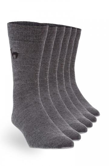 6er-Pack Alpaka BUSINESS SOCKEN elegante Strick-Socke mit APU KUNTUR Logo für Herren und Damen