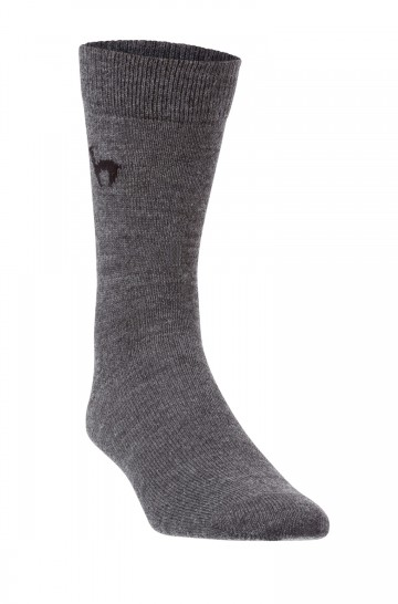 Alpaka BUSINESS SOCKEN elegante Strick-Socke mit APU KUNTUR Logo für Herren und Damen