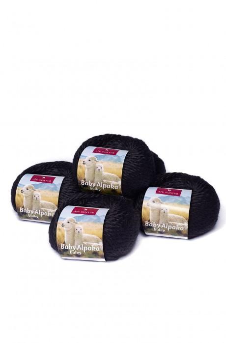 5er-Pack Baby-Alpaka Wolle BULKY 5x50g 50m Nadel 8 Strick-Häkel-Garn Nm 2/2 APU KUNTUR