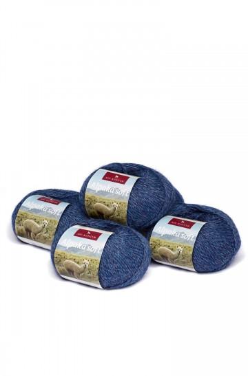 5er-Pack ALPAKA-SOFT Wolle 5x50g 100m Nadel 4-4,5 Strick-Häkel-Garn Nm 4/8 APU KUNTUR