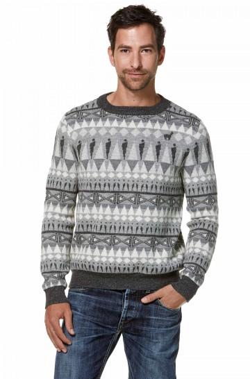 Jaquard-Pullover HOMINEM aus Baby-Alpaka für Herren