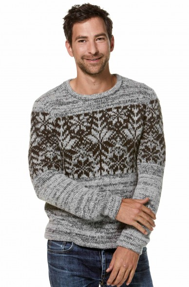 Rundhals Pullover NATURA aus Baby-Alpaka für Herren