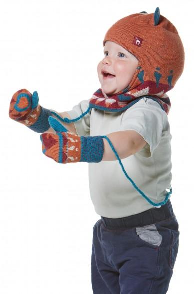 Kinder Fäustlinge ELI 8-14 Monate gefüttert