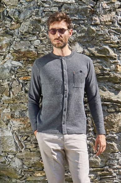 Alpaka Strickjacke GERSON aus 90% Baumwolle & 10 Royal Alpaka