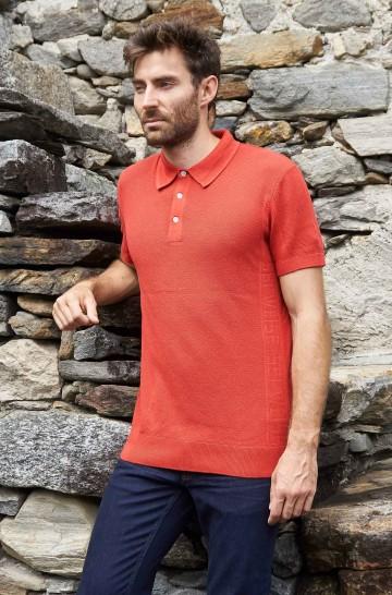 Poloshirt SIMRON aus 10% Royal Alpaka und 90% Pima Bio Baumwolle