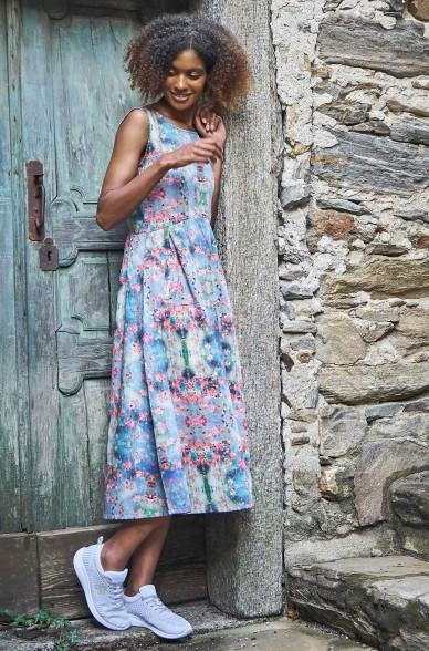 Ärmelloses Kleid ARABELLA aus 100% Bio Pima Baumwolle
