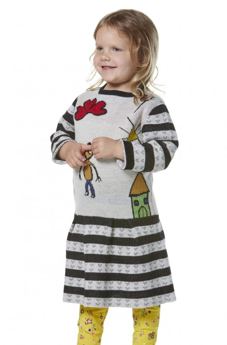 Kleid AMOR für Kinder aus 70% Baumwolle & 30% Baby Alpaka