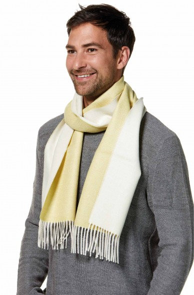 Damen Herren Schal DUO gewebter Alpaka-Schal zweifarbig von APU KUNTUR