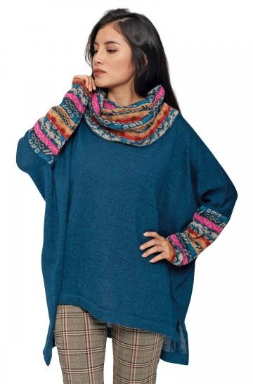Oversize Pullover TAMIA mit Rollkragen und Fledermaus-Ärmeln