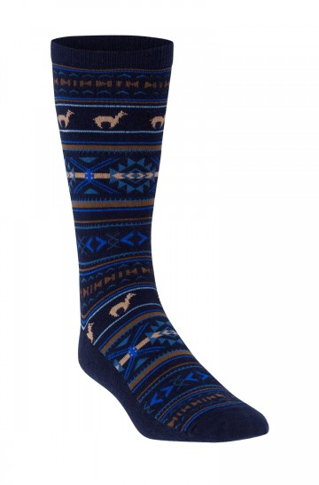 Strick-Socke Premium JACQUARD Baby Alpaka Pima Baumwolle Damen Herren