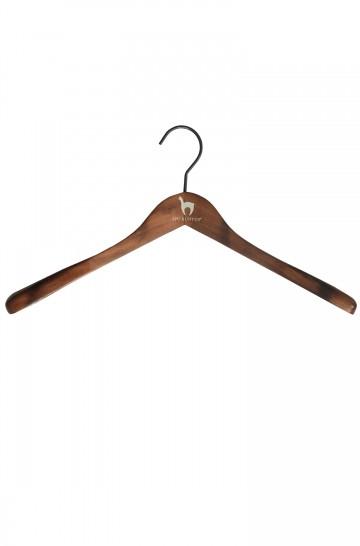 APU KUNTUR Kleiderbügel Holz 45 cm mit Alpaka Logo Unisex Damen Herren