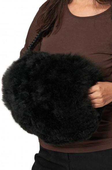 Alpaka Muff aus 100% Alpaka Fell