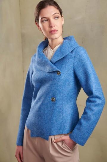 Mantel JOAN aus Baby Alpaka und Wolle für Damen