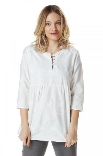 Bluse ALEXANDRA aus 100% Bio Pima Baumwolle