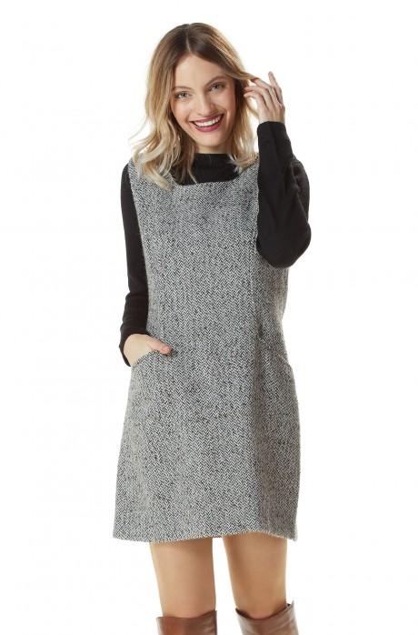 Kleid BENI aus 68% Alpaka & 32% Wolle