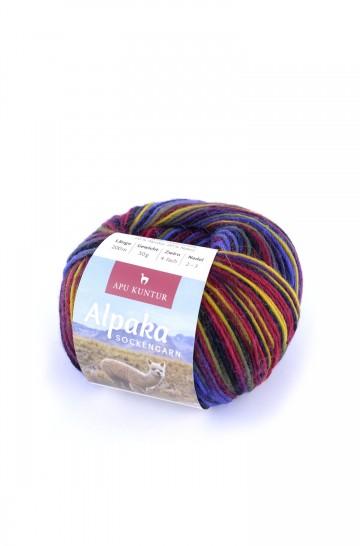 Alpaka Wolle SOCKENGARN   50g   60% Wolle (Superwash)