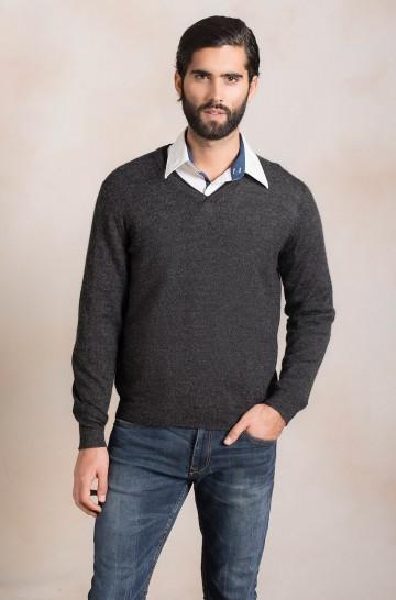 Männer Pullover V-Ausschnitt PALLINO Alpaka Wolle