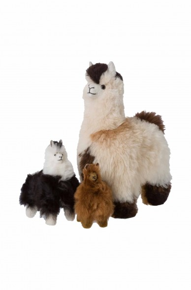 Alpaka Kuscheltier - 15cm aus 100% Alpaka Fell
