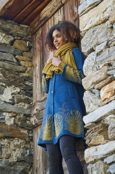 Alpaka Mantel GOLDIE aus 60% Alpaka Suberfine & 40% Wolle