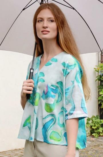 Blusenhemd ARIS aus 100% Pima Bio Baumwolle