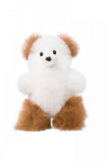 Alpaka Kuscheltier TEDDY 15cm aus 100% Alpaka Fell