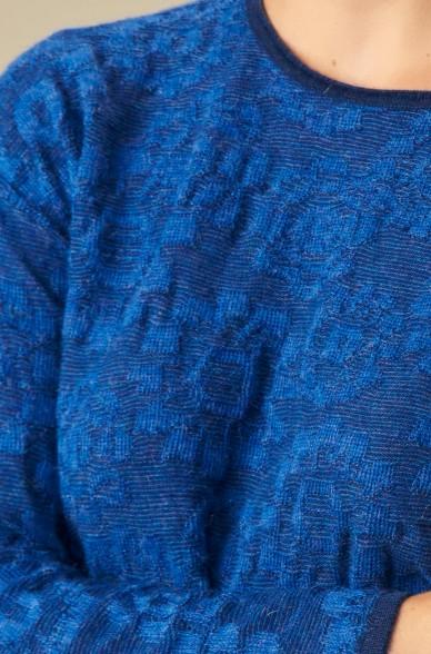 Pullover ULISSES mit Blumenmuster aus Baby Alpaka