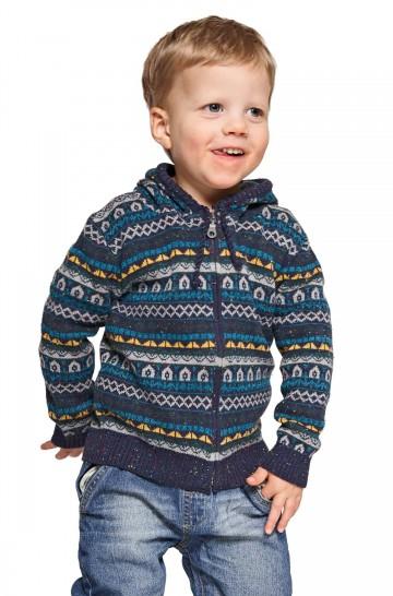 Alpaka Strickjacke MONITO für Kinder aus 70% Baumwolle & 30% Baby Alpaka