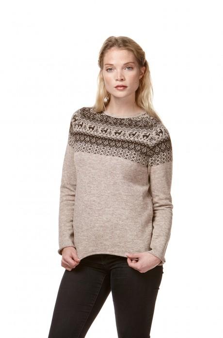 Strick-Pullover ANDEN reines Alpaka Damen