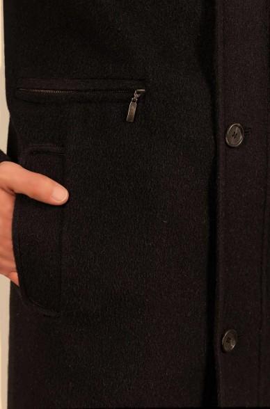 Mantel ULMER mit Knopfleiste aus Baby Alpaka