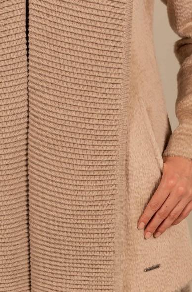 Kurz Mantel UMBLAU aus Alpaka und Wolle