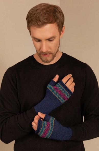 Fingerlose Handschuhe SAKARI aus Baby Alpaka