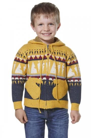 Alpaka Strickjacke ELI für Kinder aus 70% Baumwolle und 30% Baby Alpaka