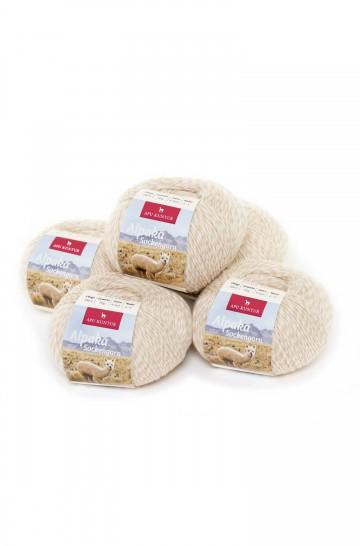 Alpaka Wolle SOCKENGARN | 50g | 5er Pack | 60% Wolle (Superwash)