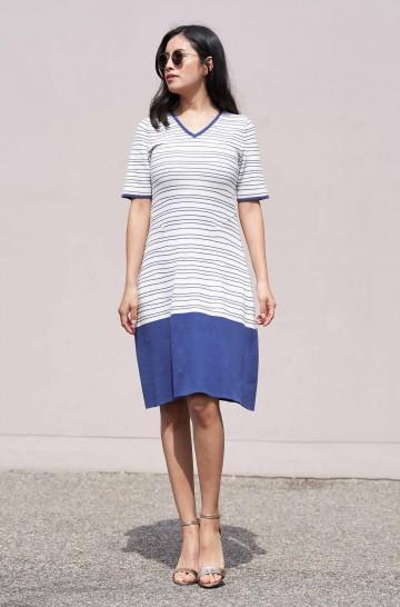 Strick-Kleid LINEAS aus Bio Pima Baumwolle