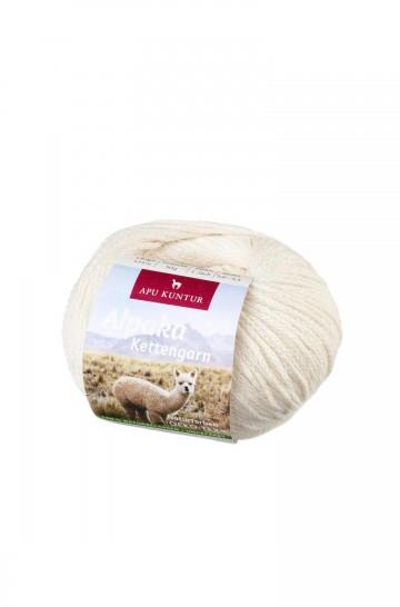 Alpaka Wolle KETTENGARN | 50g | 55% Baby Alpaka (ungefärbt)