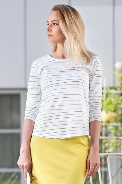 T-Shirt LINEAS mit 3/4 Arm aus 100% Bio Pima Baumwolle
