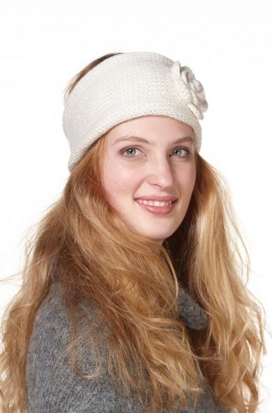 Damen Stirnband ROSETTA aus reinem Alpaka